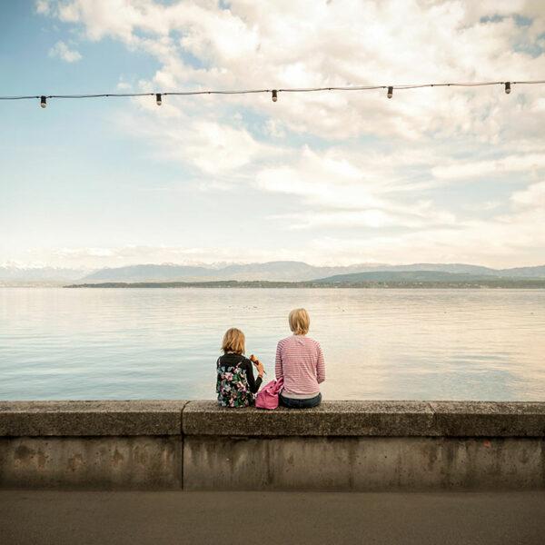 Goûter au bord du lac Leman