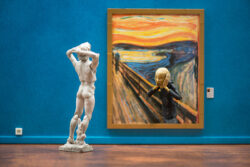 Tableau d'art contemporain - Le cri de Samsofy, clin d'œil à l'œuvre du cri d'dvard Munch