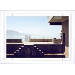 Tableau d'art contemporain - Lac Leman et trotinette