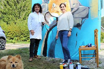 Transformateur Les Rousses projet Street Art