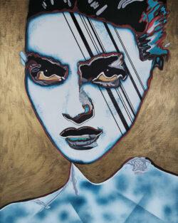 Emma 2090 - Peinture contemporaine de Caroline David