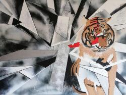 Achat tableau Le tigre de Caroline David