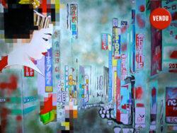 Tableau contemporain de Caroline David - Souvenir Geisha