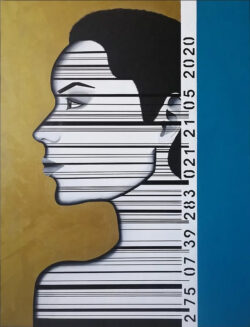 Caroline David - Tableau Persona - Acrylique sur toile