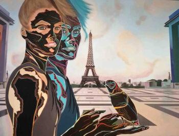 oeuvre d'art Artiste Caroline David - Thème de la transhumance