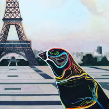 Tableau Caroline David - Zoom sur l'oiseau peint
