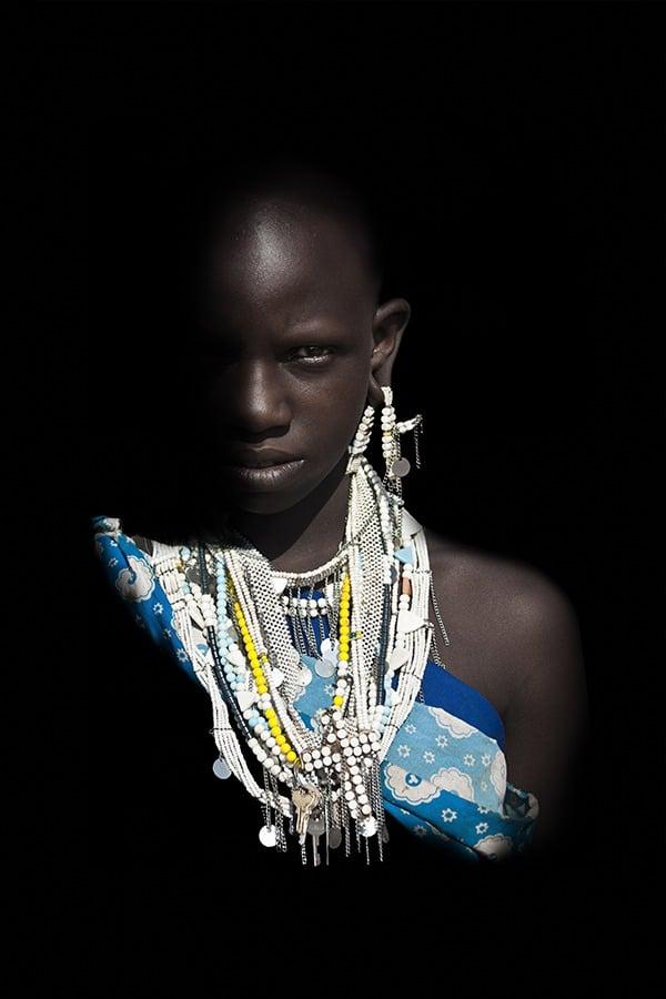 Portrait de face - Jeune-Fille Massai - Tanzanie