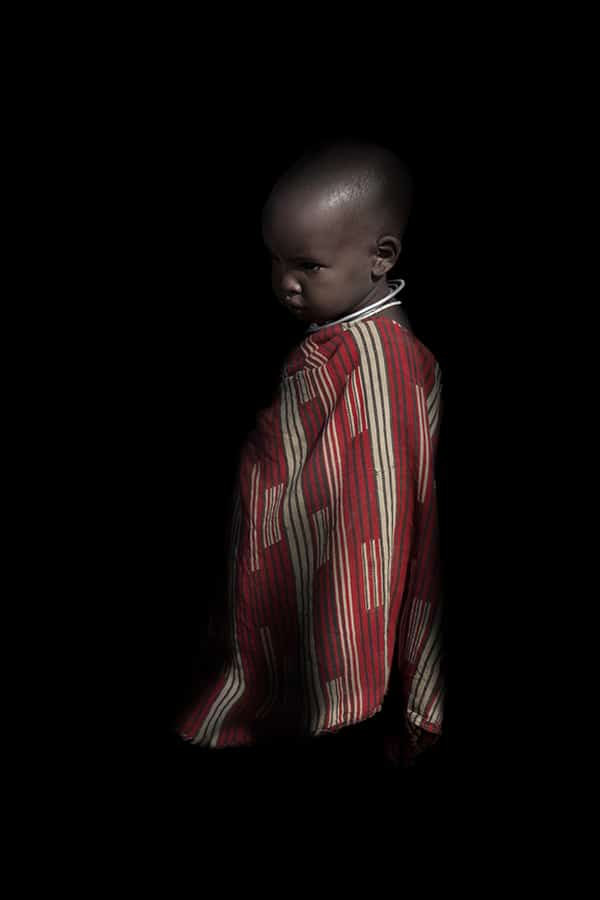 Portrait d'un jeune enfant Massai en Tanzanie