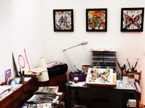 Atelier de l'artiste Claude Cruz
